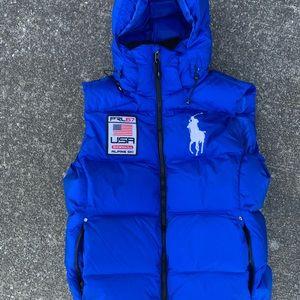 Polo Ralph Lauren alpine ski puffer jacket vest